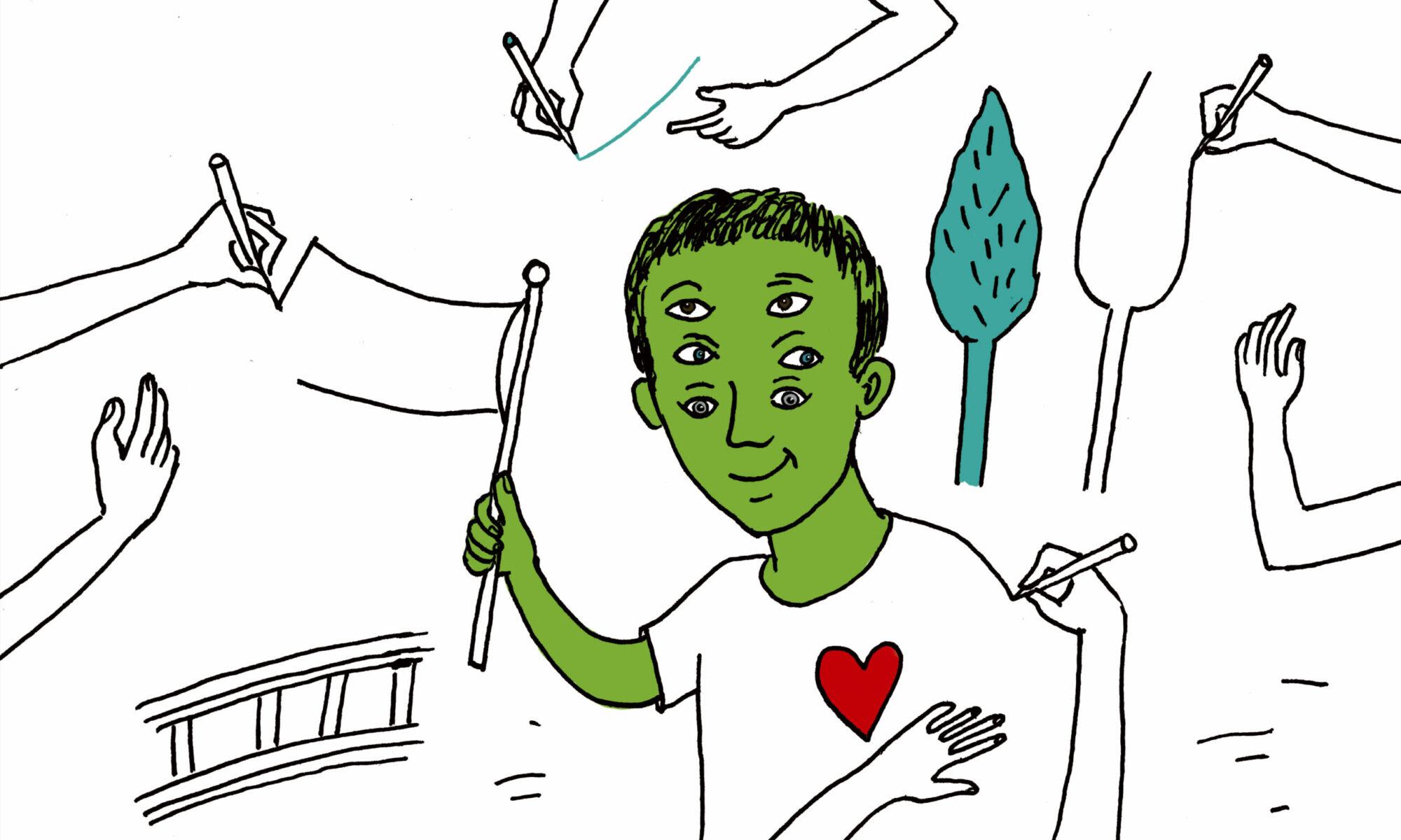 Friedenstische-Zeichnen